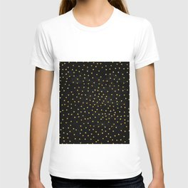 Gold triangles pattern T-shirt