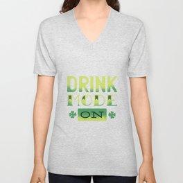 drink mode on Unisex V-Neck
