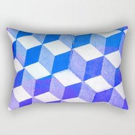 Blue Antic Tile Pattern Rectangular Pillow