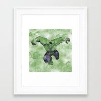 hulk Framed Art Prints featuring Hulk by DanielBergerDesign
