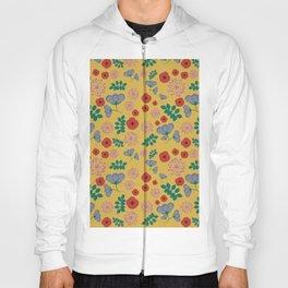 Mustard floral pattern Hoody