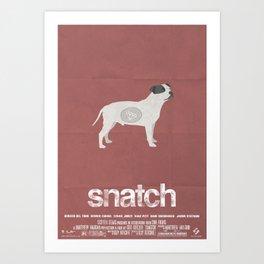 """Snatch"" Minimal Poster Art Print"