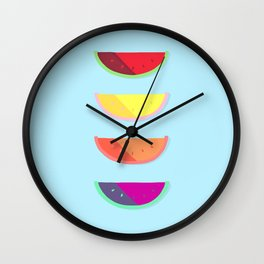 Summer Melons Wall Clock