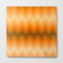Orange chevron Metal Print