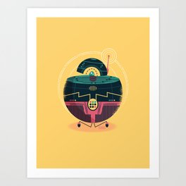 :::Mini Robot-Sfera1::: Art Print