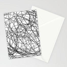 Black line doodle single line Stationery Cards