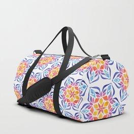 Snowflake - Blue and Yellow Duffle Bag