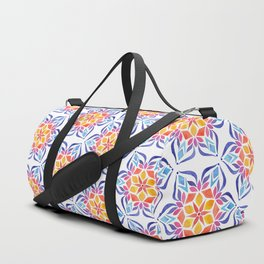 Snowflake - Blue and Yellow Duffle Bag