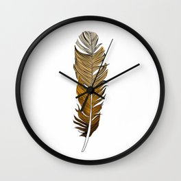 Ombre Feather Illustration Wall Clock