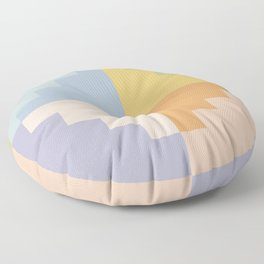 Geometric Color Block V Floor Pillow