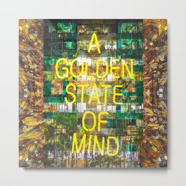 A Golden State of Mind Metal Print