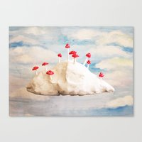 laputa Canvas Prints featuring Mushroom Cloud  by Ophelia Kwong