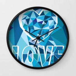 Poligon Love Blue Wall Clock
