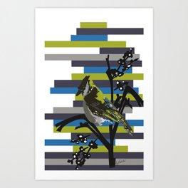 VANISHING BIRD Art Print