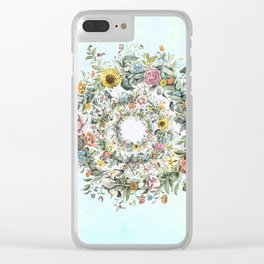 Circle of Life in  Blue Clear iPhone Case