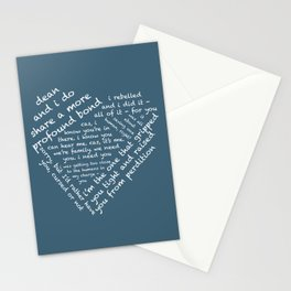 Quotes of the Heart - Destiel (White) Stationery Cards