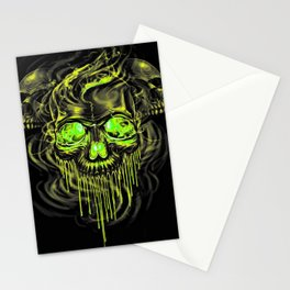 Glossy Yella Skeletons Stationery Cards