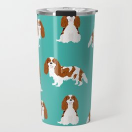 Cavalier King Charles Spaniel blenheim coat dog breed spaniels pet lover gifts Travel Mug