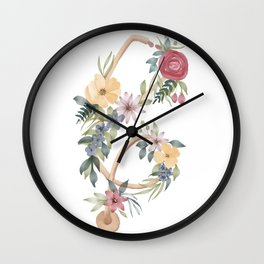 Stethoscope with Florals Wall Clock