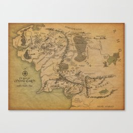 Tolkien's Realm Canvas Print