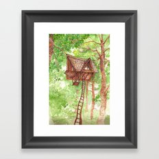 Treehouse Retreat Framed Art Print