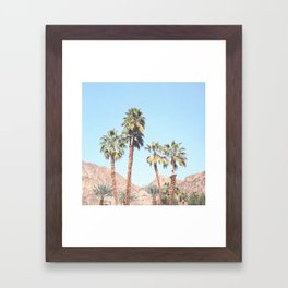 Palm Tree Desert Framed Art Print