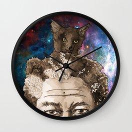 Kitty Head Space Wall Clock