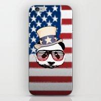 patriotic iPhone & iPod Skins featuring Patriotic Panda by crayzeestuff