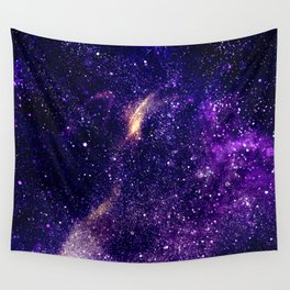 Ultra violet purple abstract galaxy Wall Tapestry