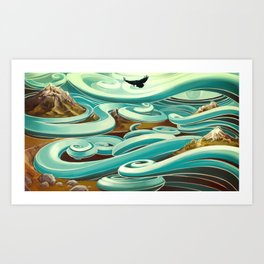 ...and then, the raven came Art Print