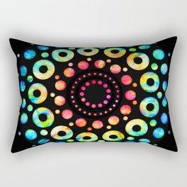 Multi-Color Mandala Tie-Dye Circle Shapes Rectangular Pillow