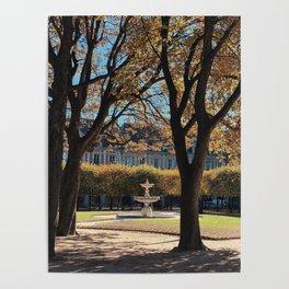 Fall Colors of Places Des Vosges Paris Poster