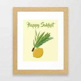 Wish You a Very Joyful Sukkot Framed Art Print