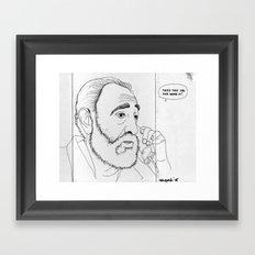Fidel Framed Art Print