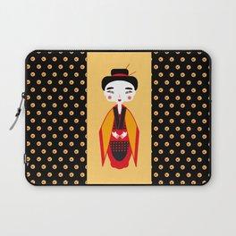 Geisha with origami crane Laptop Sleeve