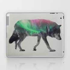 Wolf In The Aurora Borealis Laptop & iPad Skin