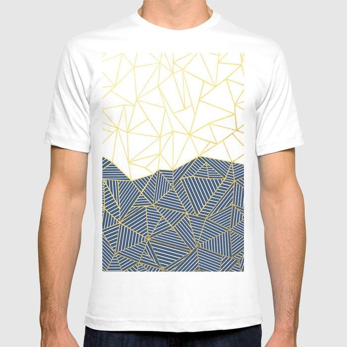 Ab Half and Half Navy Gold T-shirt