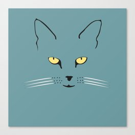 Cat with yellow eyes Canvas Print