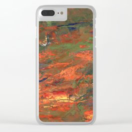Lava and Green Clear iPhone Case