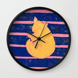 Mikan Cat #2 Wall Clock