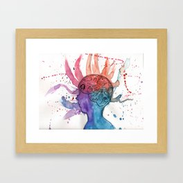 This Is Your Brain On Inspiration Framed Art Print