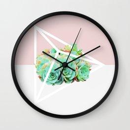 Succulent Poly Wall Clock