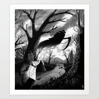 running Art Prints featuring Running by Ichorteeth