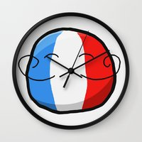 france Wall Clocks featuring France by Thomas Official