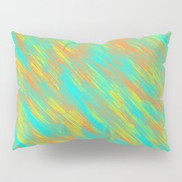 green blue orange and yellow painting texture abstract background Pillow Sham
