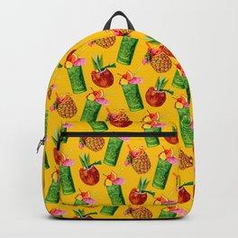 Tiki Cocktail Pattern - Yellow Backpack
