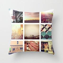 New York Scenes Throw Pillow