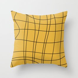 Gold elements lines geometric Throw Pillow