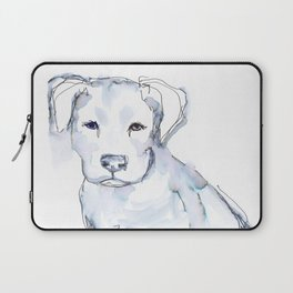 Pit Bull Puppy (for Kerry), watercolor Laptop Sleeve