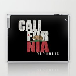 Cali Bear Flag with deep distressed textures Laptop & iPad Skin